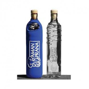 Drinking Bottle Eco Respekt, glass, blue, 500ml