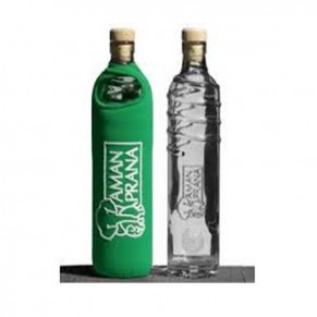 Drinking Bottle Eco Respekt, glass, green, 500ml