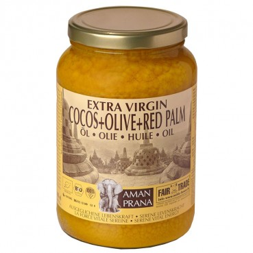 Coconut oil with olive and red palm  1.6lt, Amanprana