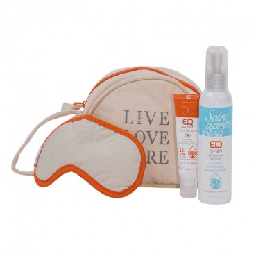 Trousse de voyage en coton EQ montain travel kit Orange, EQ Love