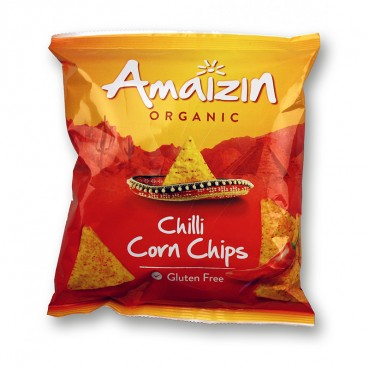 Chili Corn Chips 75 g, Bio, Amaïzin