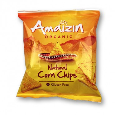 Natural Corn Chips 75 gr, Amaïzin,