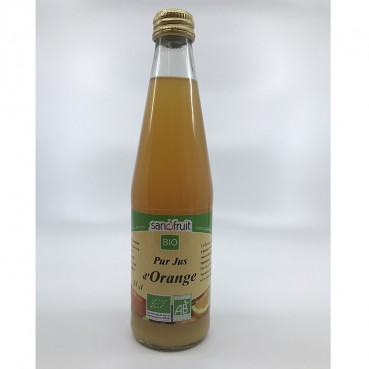 Pur Jus d'Orange 33 cl, Bio, Sanofruit