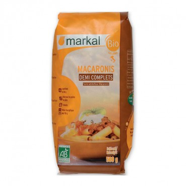 Macaronis Demi-Complets 500 g, Bio, Markal